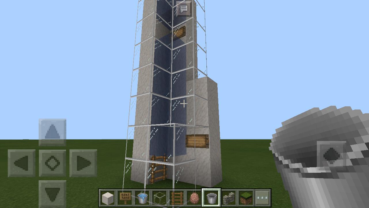 【村人等の移動に】水流エレベーターの作り方